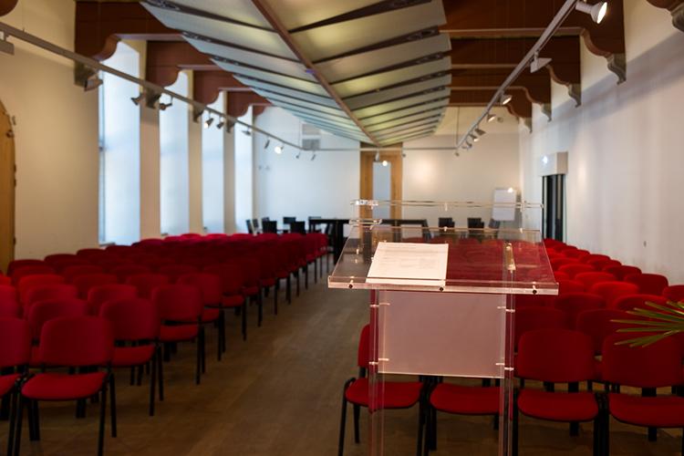 Grote Zaal Podium Zicht De Kanselarij Leeuwarden